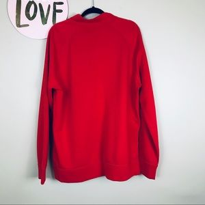 Sweaters - Apple Red Halfzip Pullover - 2XL